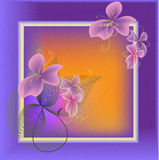 Purple frame Stock Images