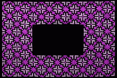 Purple  frame Royalty Free Stock Photography