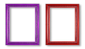 Purple frame and red frame isolated on white background Stock Photo