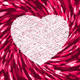 Purple frame in the shape of heart. EPS 8 Stock Photography