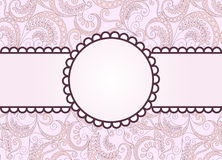 Purple frame on a vintage pink background Stock Photo
