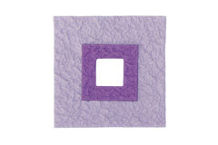 Purple Frames. Purple Rectangle Frames With Textured Surface On White Background Royalty Free Stock Photo