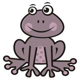 Purple frog Royalty Free Stock Images