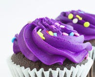 Purple frosting Royalty Free Stock Image
