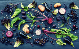 Purple fruit and vegetables Royalty Free Stock Image
