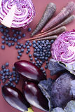 Purple fruits and vegetables Royalty Free Stock Image