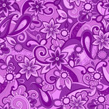 Purple Funky Pucci Seamless Repeat Pattern. Vector Background Illustration Royalty Free Stock Photo