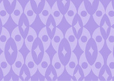 Purple funky wallpaper pattern Stock Photography