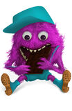 Purple furry monster Royalty Free Stock Photo