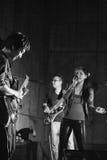 Purple Fusion rock band performance Stock Photos