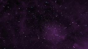 Purple Galaxy Glass 2. Flying particles and purple glass stock footage
