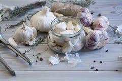 Purple garlic Royalty Free Stock Photos