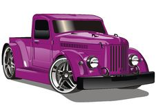 Purple GAZ Hot Rod Stock Image