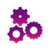 Purple gears sign icon Stock Photos