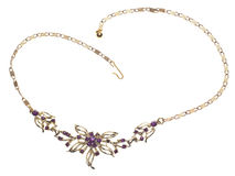 Purple Gem Costume Jewelry Necklace Royalty Free Stock Photos