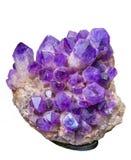 Purple gem isolated Stock Photo