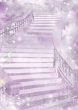 Purple gentle colourful illustration of a ladder - Stock Photography