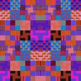 Purple geometric abstract pattern Royalty Free Stock Photo