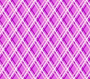 Purple geometric background, seamless, fine lines, diamonds, vector. White and pink thin lines intersect at a lavender field. Vector decor Stock Photography
