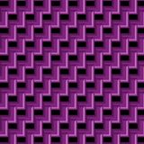 Purple geometric 3D pattern and background. Bright purple glossy 3D geometric abstract background for wallpapers, backdrops, fabric, textile and design templates Stock Photos