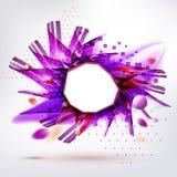 Purple geometric form modern style sticker Royalty Free Stock Photos