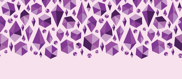 Purple geometric jewel shapes horizontal seamless Royalty Free Stock Images