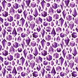 Purple geometric jewel shapes seamless pattern Stock Photo