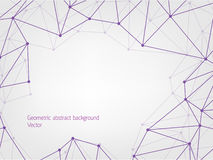 Purple geometric polygon abstract background. With place text Royalty Free Stock Photo