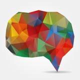 Purple geometric speech bubble with triangular polygons Royalty Free Stock Photo