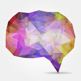 Purple geometric speech bubble with triangular polygons Stock Photos