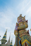 Purple giant at Wat Phra Kaew Royalty Free Stock Image