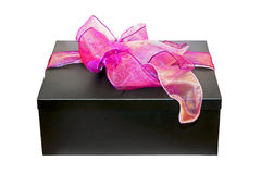 Purple gift angle Royalty Free Stock Photos
