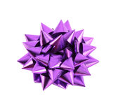 Purple Gift Bow. On White Stock Photos