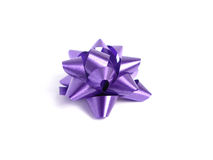 Purple gift Bow Stock Image