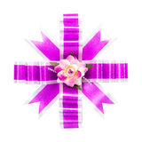Purple gift bow Stock Images