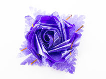 Purple gift bows with ribbons Stock Images