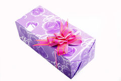 Purple gift box Royalty Free Stock Photo