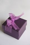 Purple gift box. On white background isolated Royalty Free Stock Images