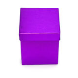 Purple Gift-box. Isolated on white Royalty Free Stock Images