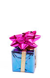 Purple gift box with a bow. For Christmas or Valentines Day Royalty Free Stock Photo
