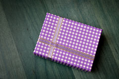 Purple gift box Royalty Free Stock Image