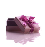 Purple gift box Stock Images