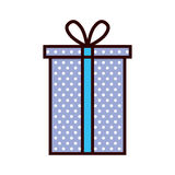 Purple gift box present ribbon. Illustration eps 10 Stock Photography