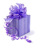 Purple gift box Royalty Free Stock Photos
