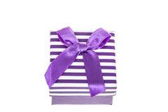 Purple gift box Stock Photo