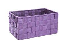 Purple gift box on white background Royalty Free Stock Photo