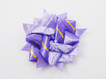 Purple gift star bows with ribbons Royalty Free Stock Photo