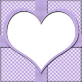 Purple Gingham with Heart Center and Ribbon Background for your Stock Photos