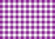 Purple Gingham Pattern Background Stock Image