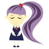 Purple girl. A girl with purple hair royalty free illustration
